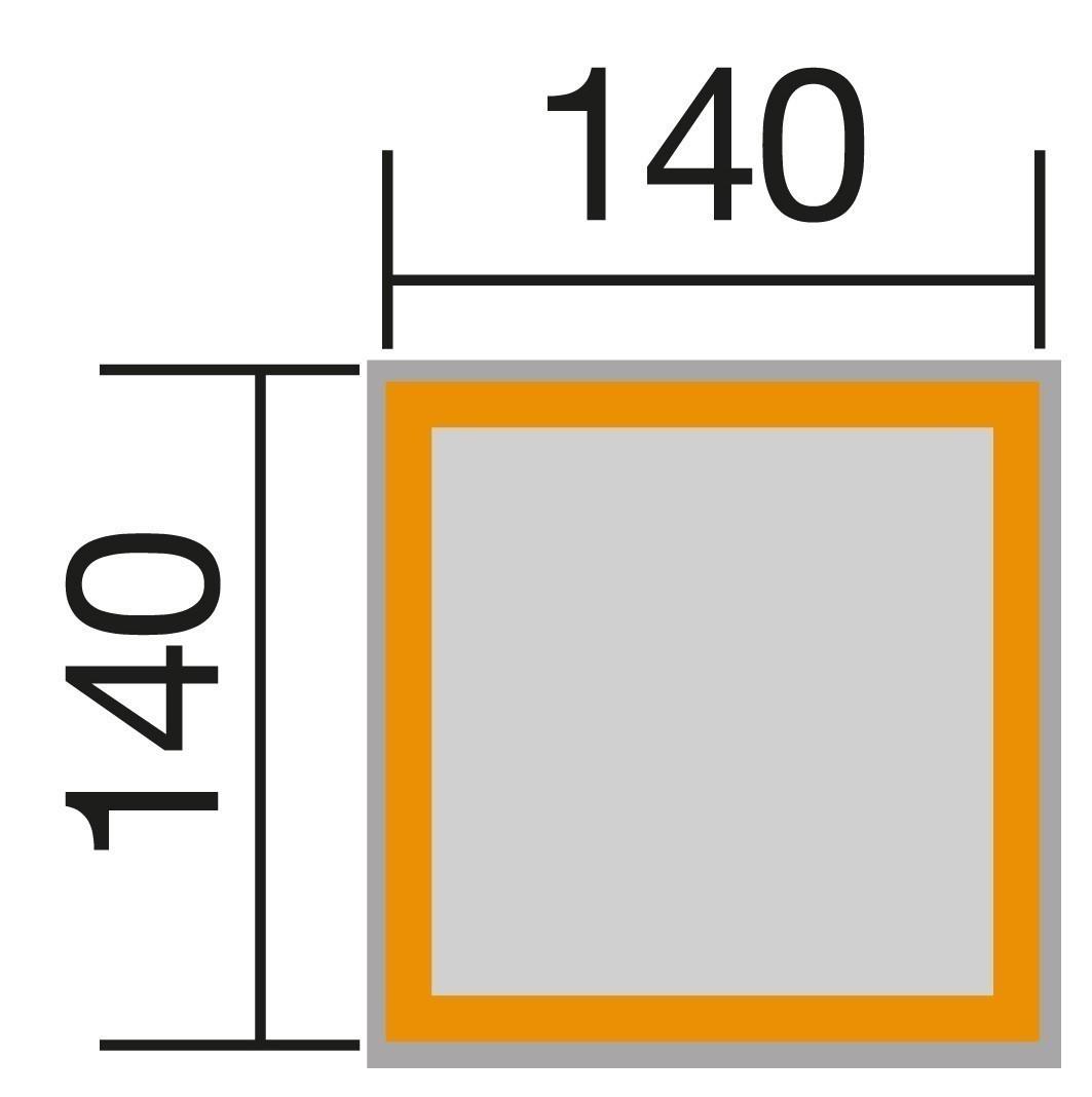 Weka Sandkasten 196 B Gr. 2 Kiefer honigbraun 140x140cm Bild 2