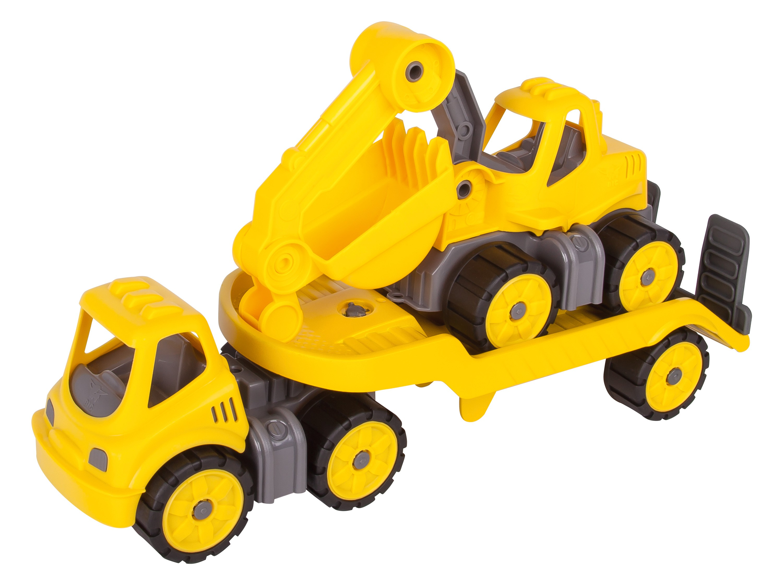 BIG Power-Worker Spielzeug Mini Transporter + Bagger Bild 1