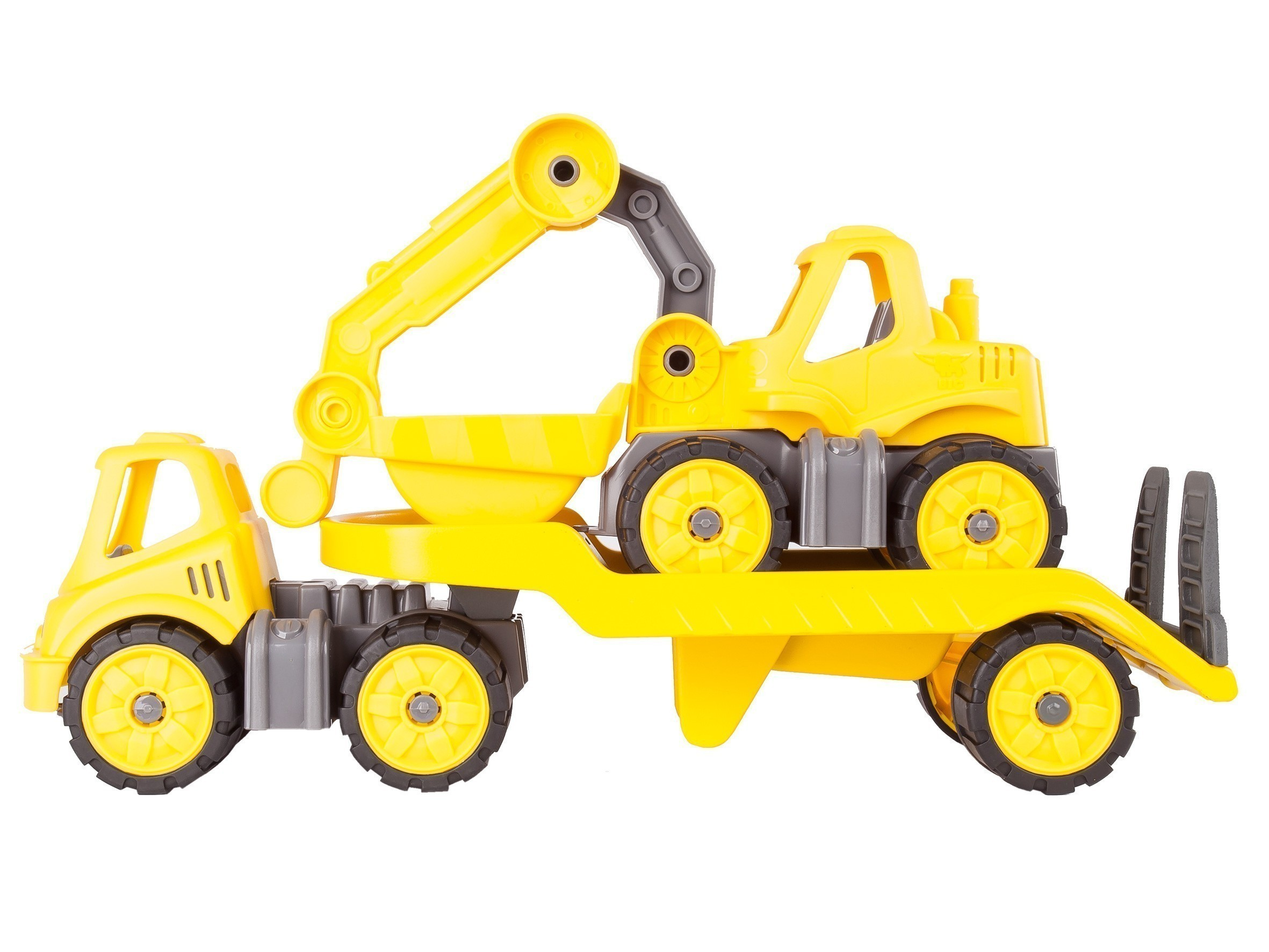 BIG Power-Worker Spielzeug Mini Transporter + Bagger Bild 2