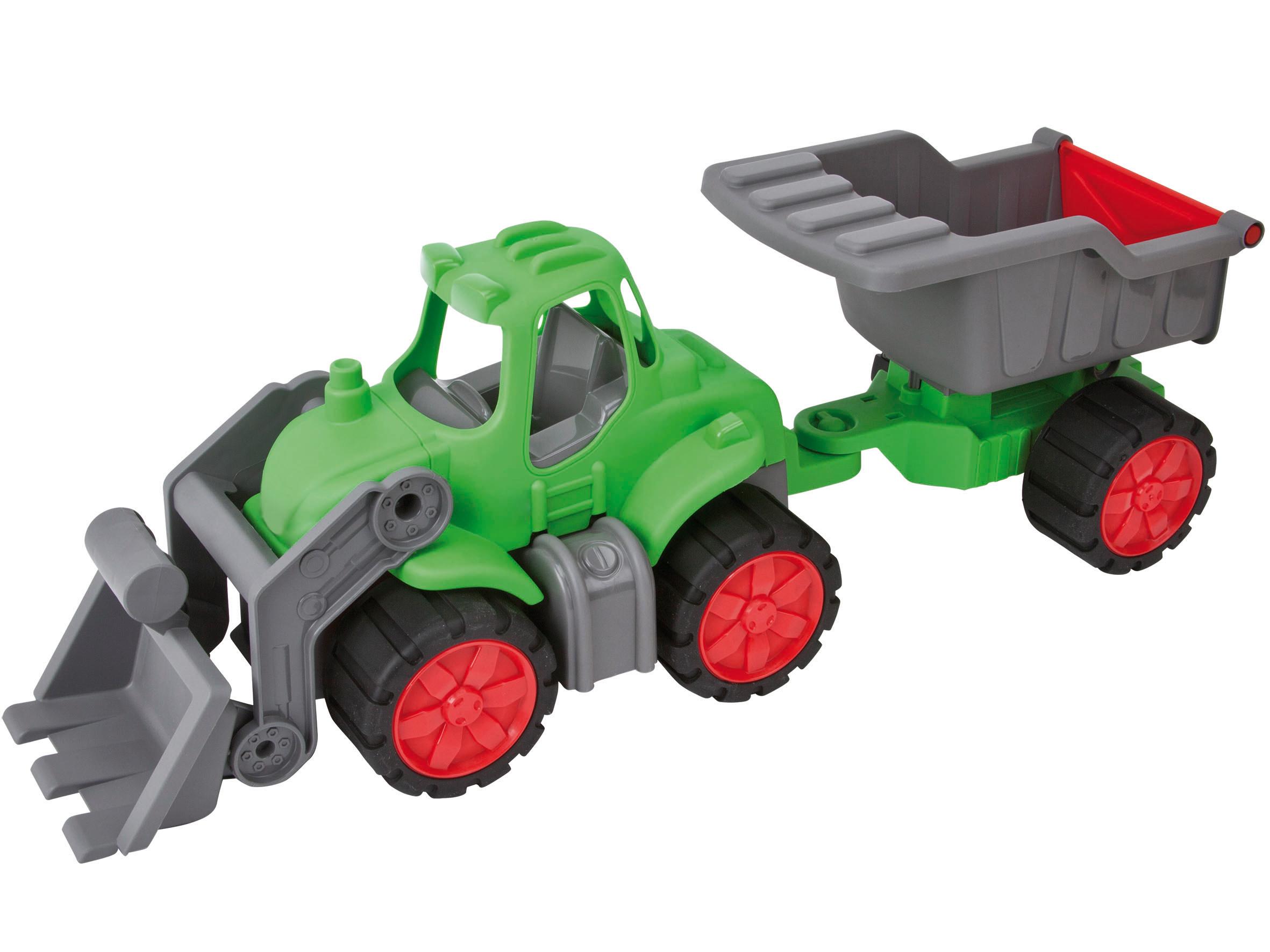 BIG Power-Worker Spielzeug Traktor + Muldenkipper Bild 1