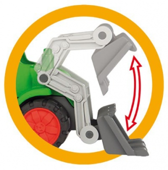 BIG Power-Worker Spielzeug Traktor + Muldenkipper Bild 2