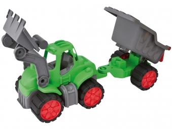 BIG Power-Worker Spielzeug Traktor + Muldenkipper Bild 3