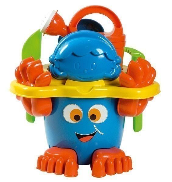Sandspielzeug Eimergarnitur mit Füßen farbig sortiert Simba Bild 1