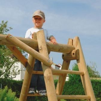 Einzel Holzschaukel / Kletterschaukel Otto Rundholz 300x190x205cm Bild 2