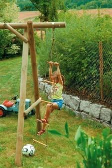 Spielanlage / Doppel Holzschaukel Classic 5.2 Rundholz B430xT190cm Bild 3