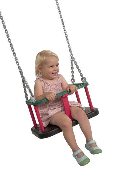 Babyschaukel Sitz Gummi mit Kette auch für den öffentlichen Bereich Bild 3