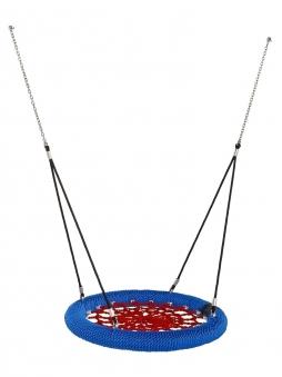 Nestschaukel Rosette Ø100cm schwarz-blau-rot für öffentlichen Bereich Bild 1