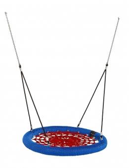 Nestschaukel Rosette Ø120cm schwarz-blau-rot für öffentlichen Bereich Bild 1