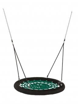 Nestschaukel Rosette Ø120cm schwarz-grün für öffentlichen Bereich Bild 1