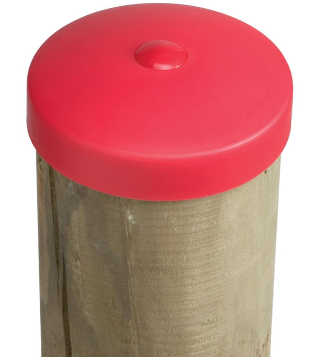 Abdeckkappe für Pfosten Kunststoff rot Ø 120mm Bild 1