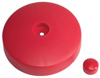 Abdeckkappe für Pfosten Kunststoff rot Ø 120mm Bild 3