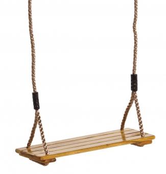 Schaukelsitz  Holz mit Seil lasiert Bild 1