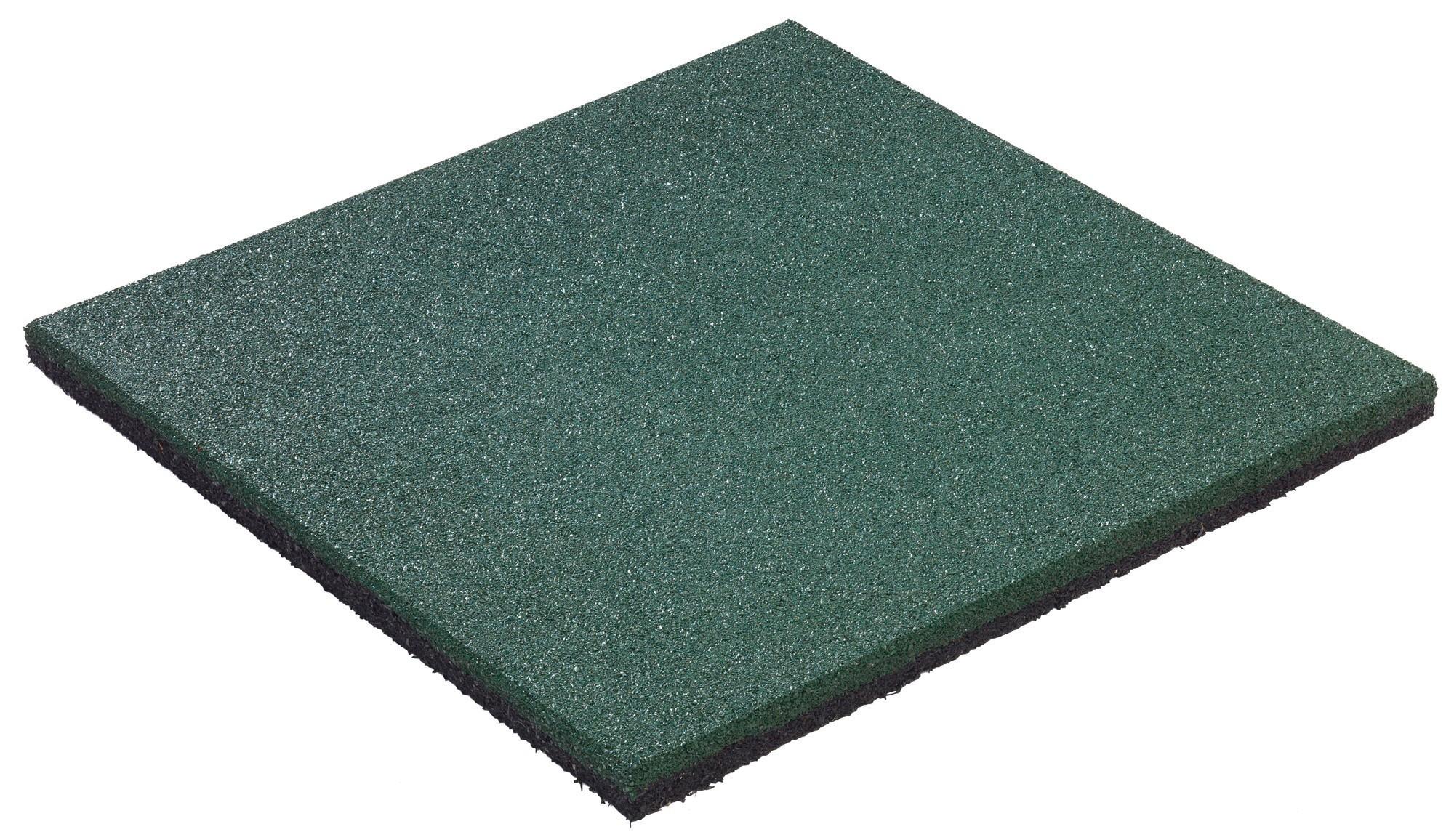 Fallschutzplatte / Gummimatte hicar grün 500x500x25mm Bild 1
