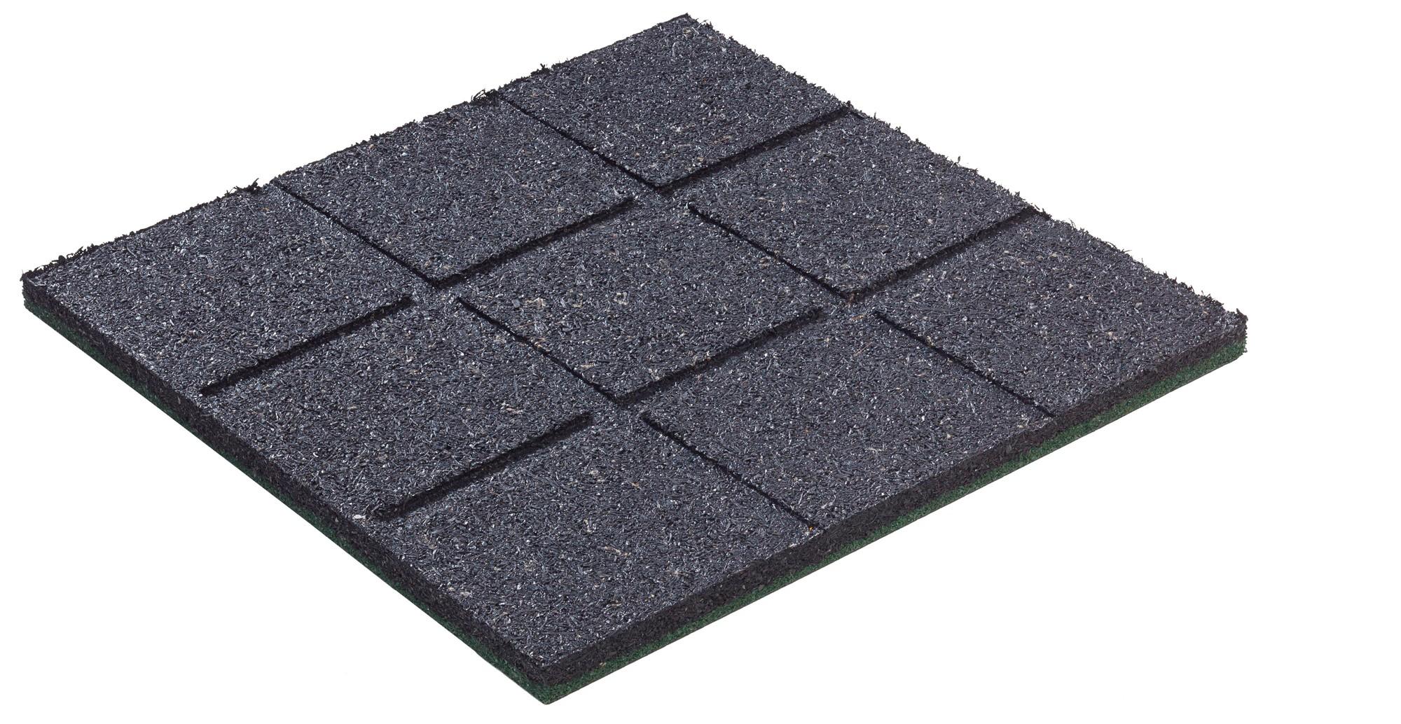 Fallschutzplatte / Gummimatte hicar grün 500x500x25mm Bild 2