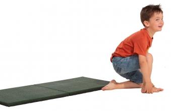 Fallschutzplatte / Gummimatte hicar grün 500x500x25mm Bild 3