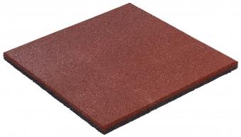 Fallschutzplatte / Gummimatte hicar rot 500x500x25mm Bild 1