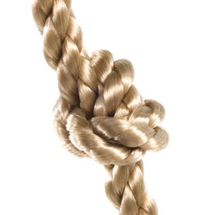 Kletterseil / Knotenseil mit 3 Knoten Bild 2