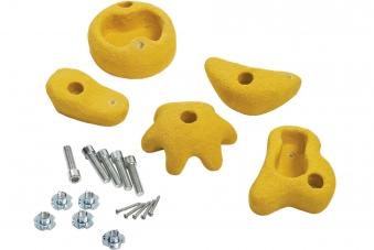 Klettersteine gelb 5 Stück Ø 100-120mm Bild 1