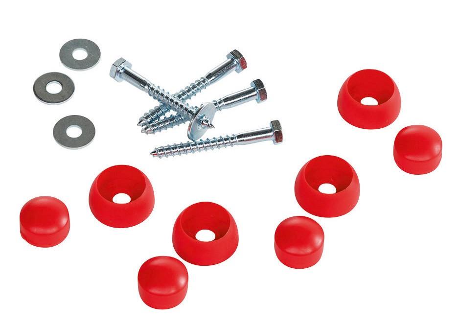 Montageset für Reckstange rot Bild 1