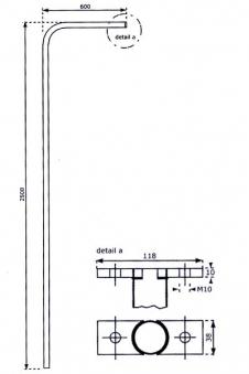 Rutschstange Metall Höhe 2,5m Bild 2