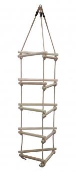 Strickleiter mit Holzsprossen 3 Seiten Bild 1