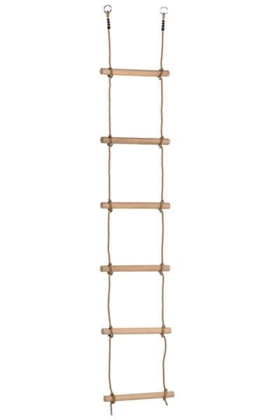 Strickleiter mit Holzsprossen 6 Sprossen Bild 1
