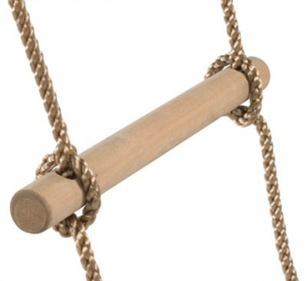 Strickleiter mit Holzsprossen 6 Sprossen Bild 2