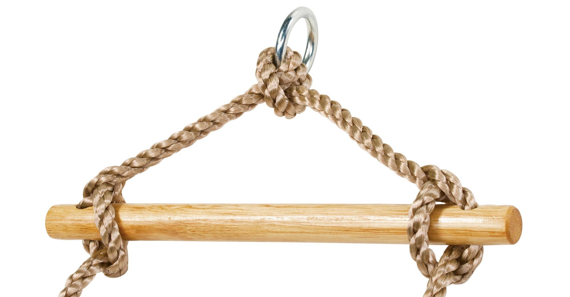 Strickleiter mit Holzsprossen light Bild 3