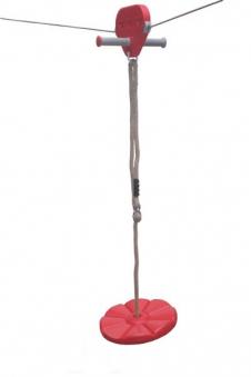 Teller / Sitz für Seilbahn rot Bild 1