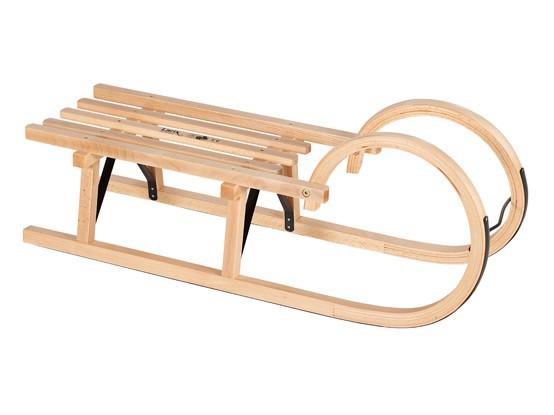 Holzschlitten / Hörnerrodel Ress mit Lattensitz 100 cm Bild 1