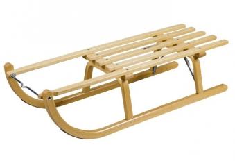 Holzschlitten / Rodelschlitten Ress Davoser Art 90 cm Bild 1