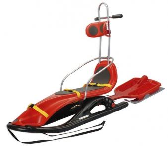 Schlitten / Rodel KHW Snow Comfort für Personen mit Handicap rot Bild 1