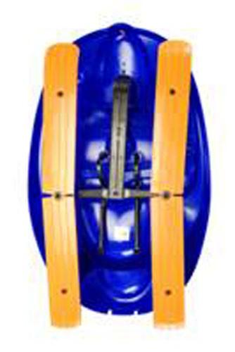 Schlitten / Rodel / Lenkbob KHW Snow Car 4x4 blau Bild 2