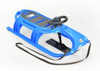 Schlitten / Rodel / Lenkbob KHW Snow Tiger de Luxe blau Bild 1