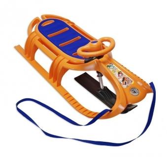 Schlitten / Rodel / Lenkbob KHW Snow Tiger de Luxe orange Bild 1