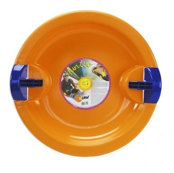 Schlitten / Schnee Rutscher Fun Ufo KHW orange Bild 1