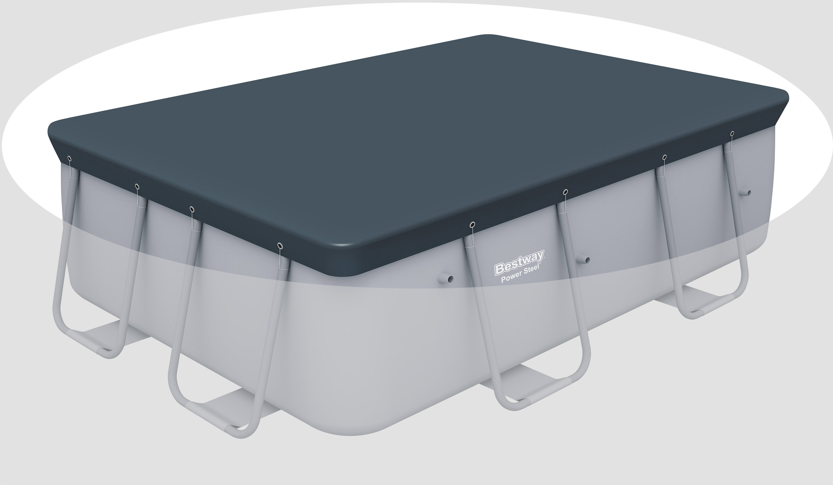 bestway pool rechteckig abdeckplane schwimmbad und saunen. Black Bedroom Furniture Sets. Home Design Ideas
