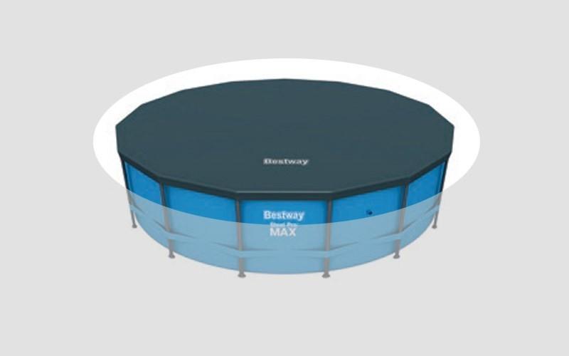abdeckplane bestway f r frame pool 366 cm bei. Black Bedroom Furniture Sets. Home Design Ideas
