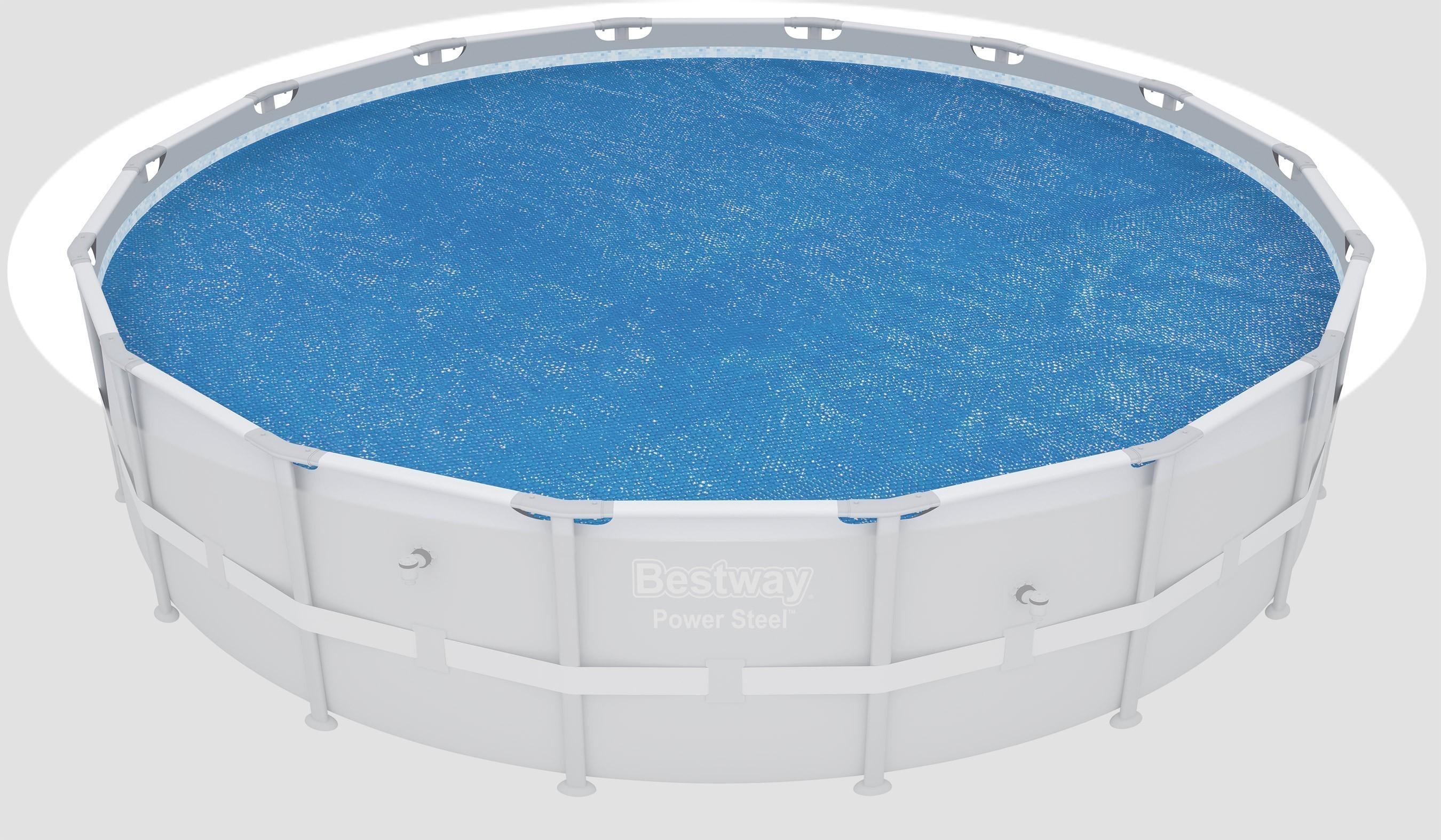 poolabdeckung / pool solarabdeckplane bestway fast set / frame pool