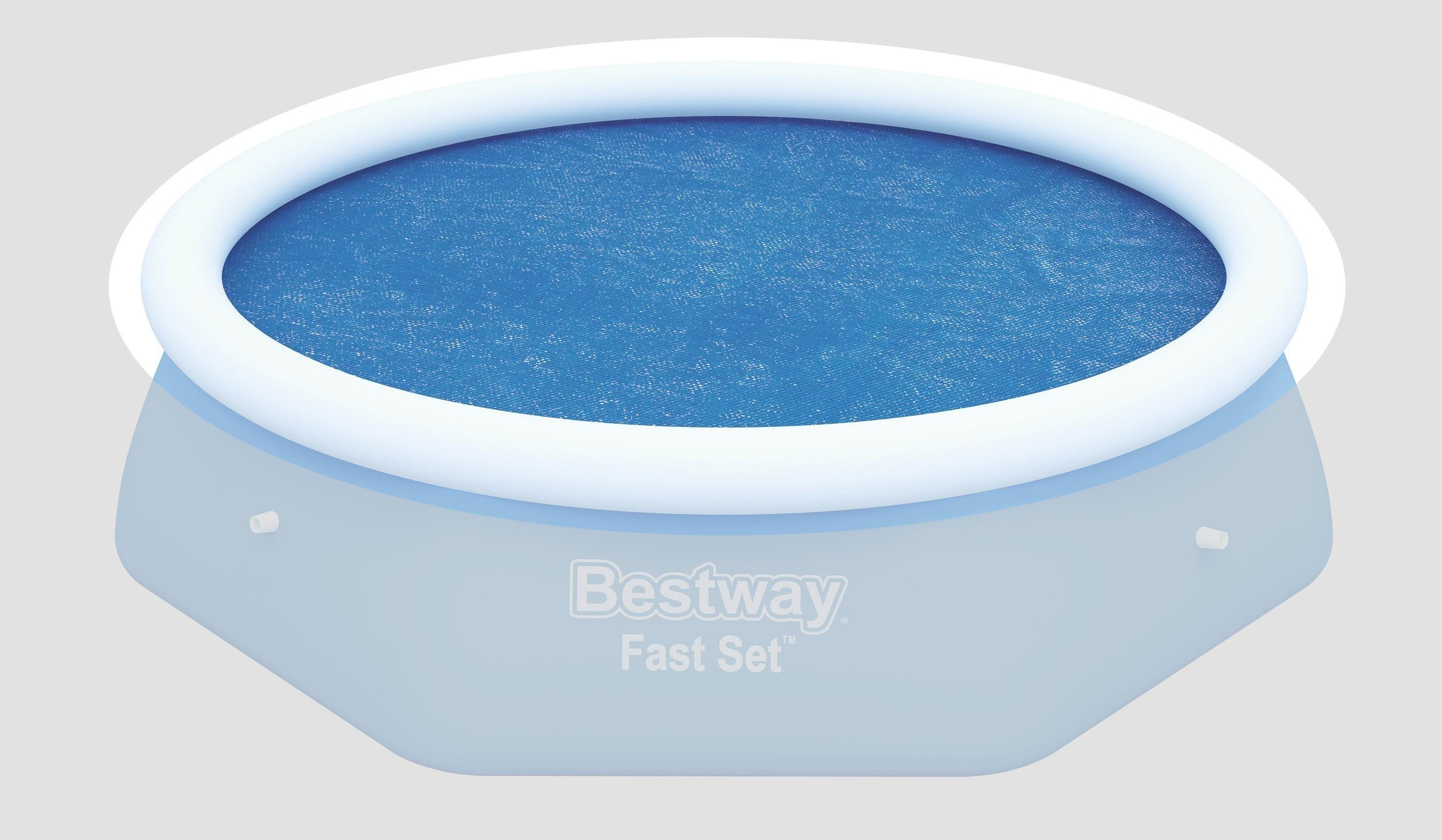 Poolabdeckung / Pool Solarabdeckplane Bestway Fast Set Pool Ø 244cm Bild 1
