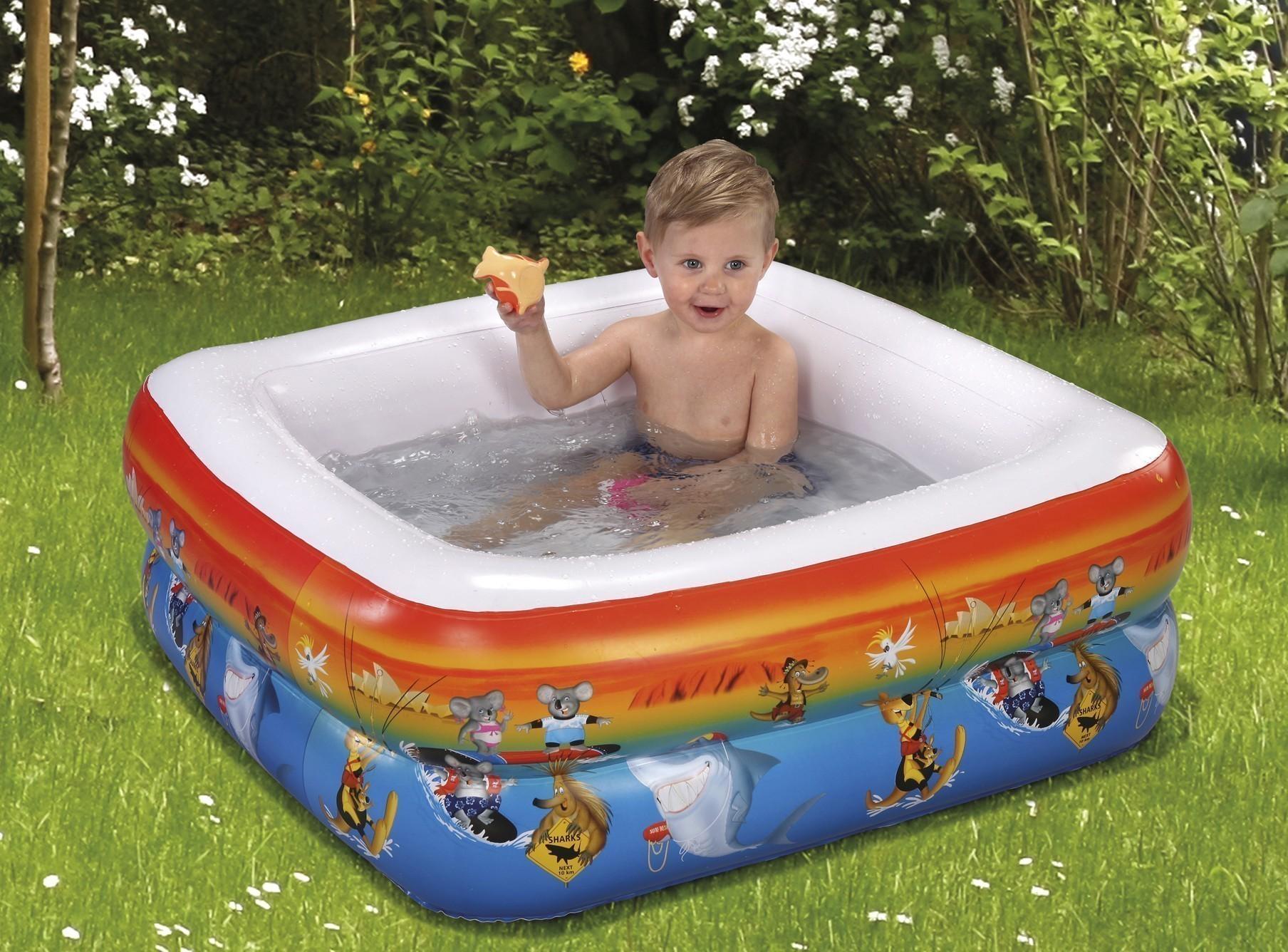 planschbecken baby pool wehncke down under f r duschwanne 85x85cm bei. Black Bedroom Furniture Sets. Home Design Ideas