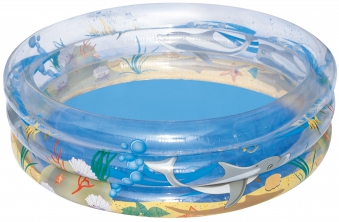 Planschbecken Bestway Kinderpool Sea Life Pool transparent Ø 170x53cm Bild 1