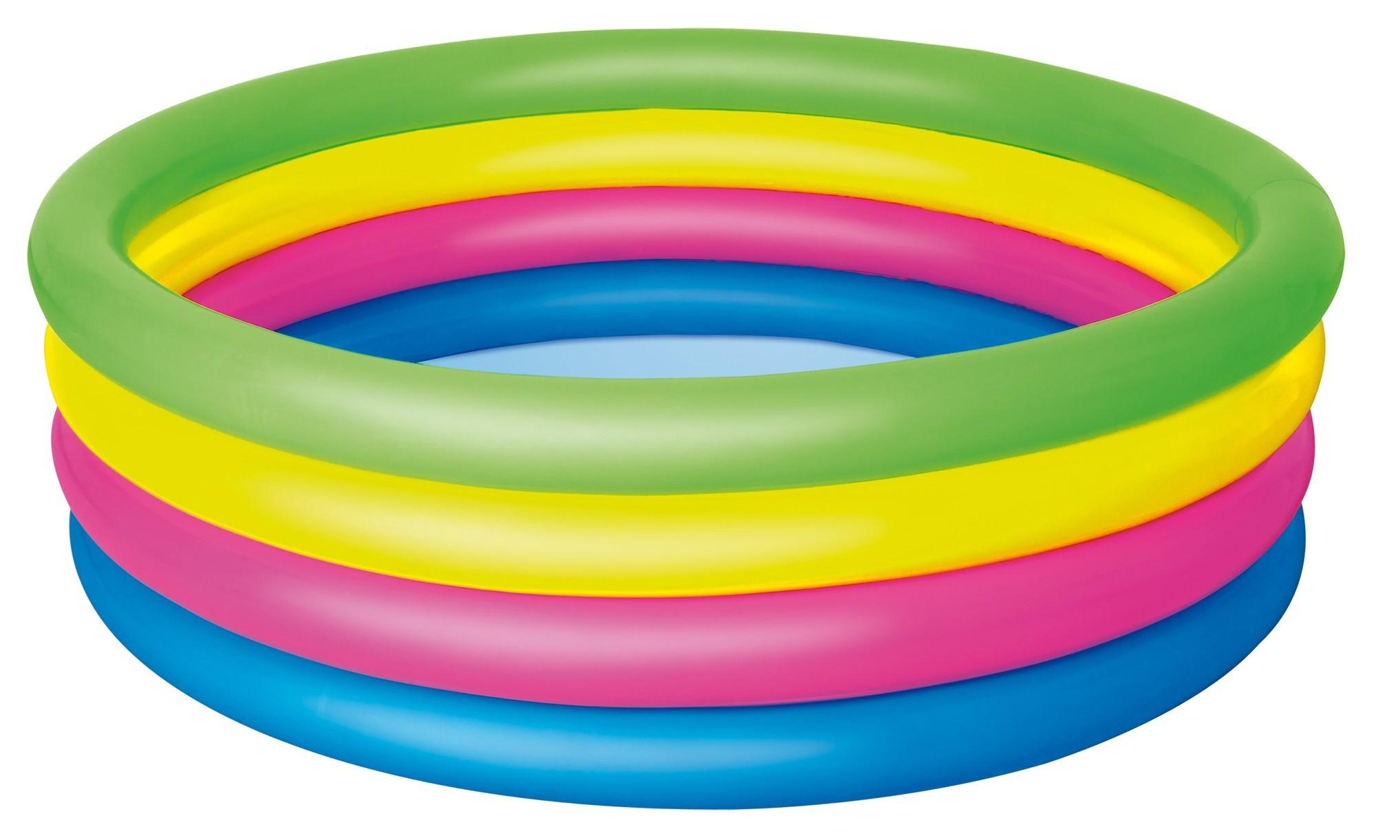 Planschbecken / Kinderpool Bestway 4 Colored Rings Ø157x46cm Bild 1