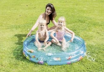 Planschbecken / Kinderpool Funny Ocean Pool Happy People Ø122cm Bild 1