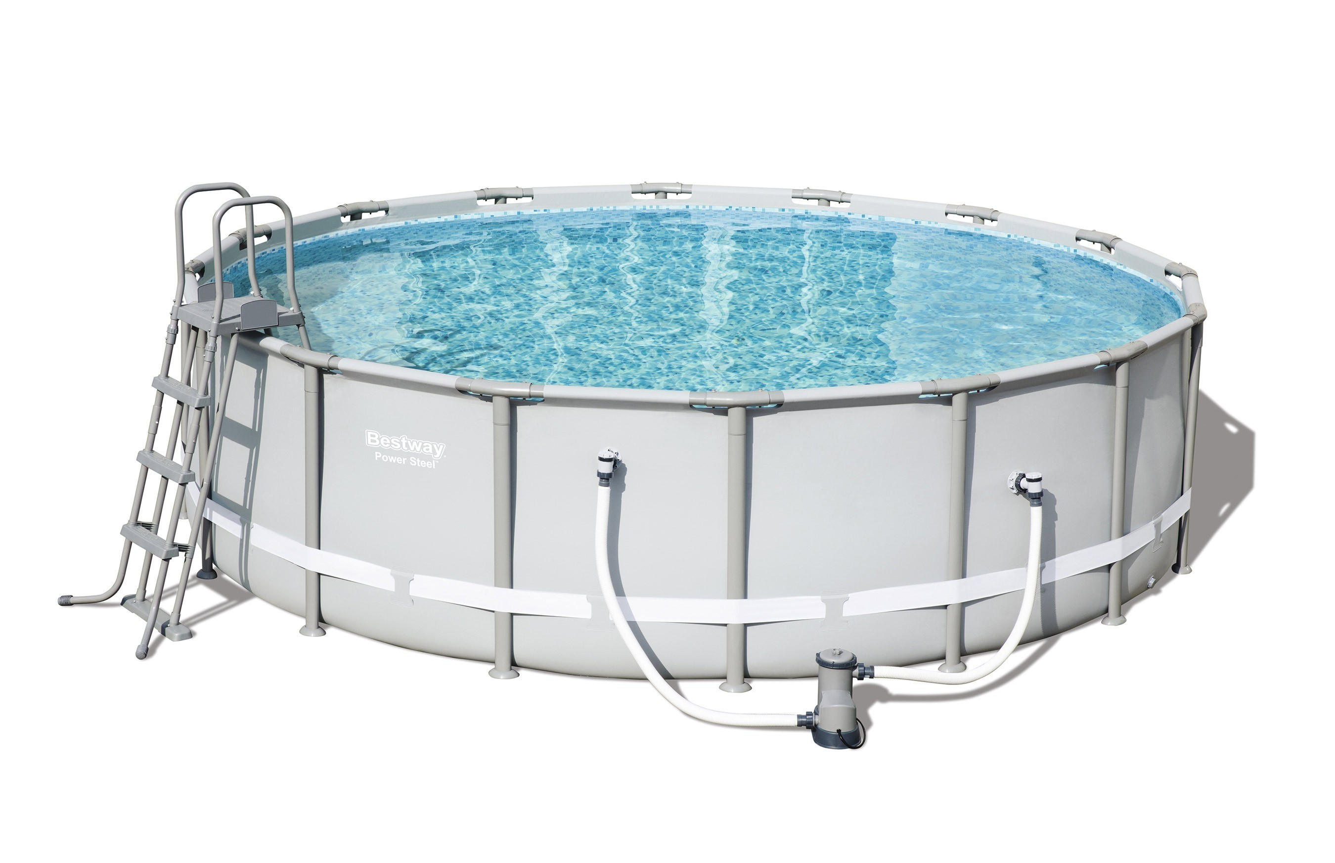 Pool / Frame Pool Bestway Power Steel Komplett-Set Ø 488x122cm Bild 1