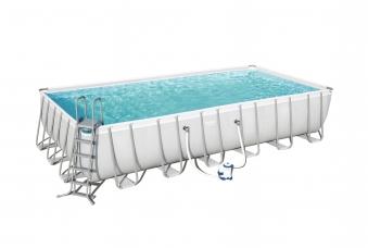 Pool / Frame Pool Bestway Power Steel Komplett-Set 732x366x132cm Bild 1