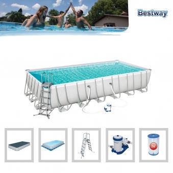 Pool / Frame Pool Bestway Power Steel Komplett-Set 732x366x132cm Bild 2