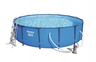 Pool / Frame Pool Bestway Steel Pro Max Komplett-Set  Ø 457x107cm Bild 2