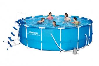 Pool / Frame Pool Bestway Steel Pro Max Komplett-Set Ø 457x122cm Bild 1