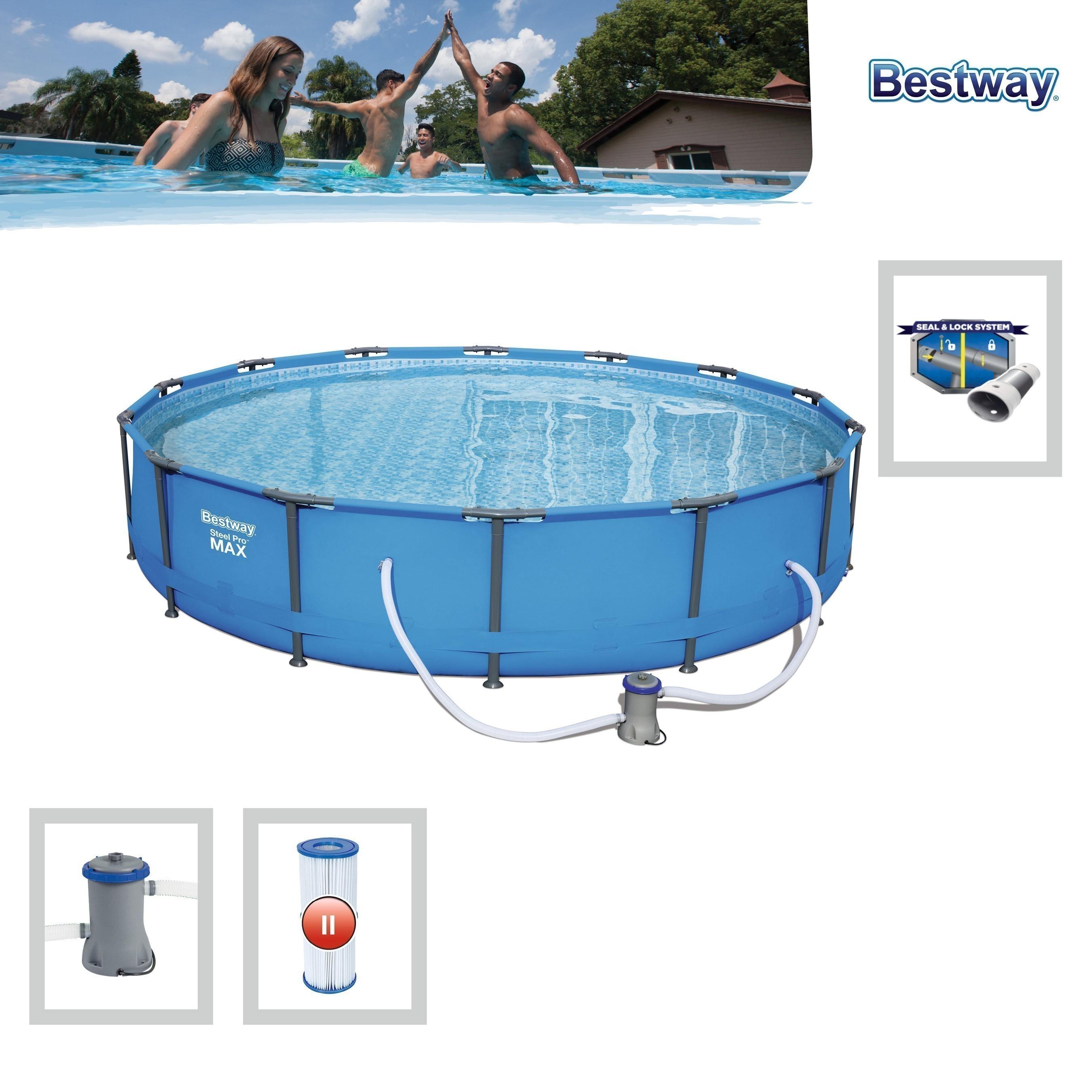 Pool / Frame Pool Bestway Steel Pro Max Set Filterpump e Ø 427x84cm Bild 1